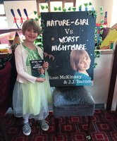 #SirensLaunch book release party for Nature-Girl Vs Worst Nightmare by Rose McKinney and JJ Barnes